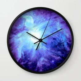 NEBula Purple Periwinkle Blue Wall Clock