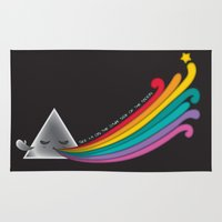 dark side of the moon Area & Throw Rugs featuring Dark Side by Inky Valentine