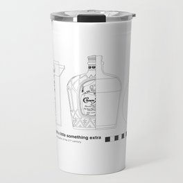 Coffee with Whiskey - Archaeological Drawing Travel Mug