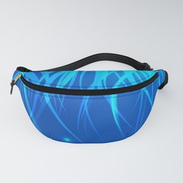 Frosty and icy lines on a blue background. Fanny Pack