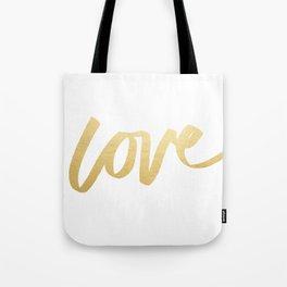 Love Gold White Type Tote Bag