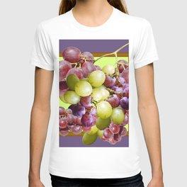PURPLE & GREEN GRAPES VINEYARD PURPLE DESIGN T-shirt