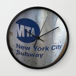 NYC MTA Trash Can Wall Clock