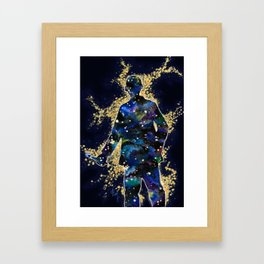 ... fallin' through space, you and me... Framed Art Print