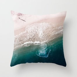 Ocean Walk V Throw Pillow