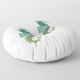 Abstract Acrylic Painting SEA HORSE Floor Pillow