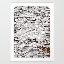 'Straya. Art Print