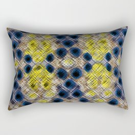Blue Gold Heritage Rectangular Pillow