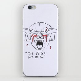 Vicky and her voices iPhone Skin