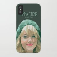 emma stone iPhone & iPod Cases featuring Emma Stone by You Xiang