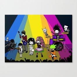 Lilwickidz Rock n Roll Band Canvas Print