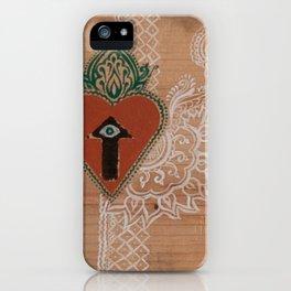 Heartline Henna  iPhone Case