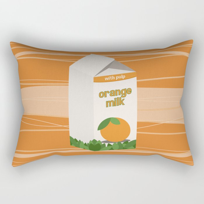 Orange Milk Rectangular Pillow