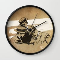 cigarette Wall Clocks featuring cigarette  by Todd A. Winter