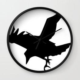 Raven A Halloween Bird Of Prey  Wall Clock