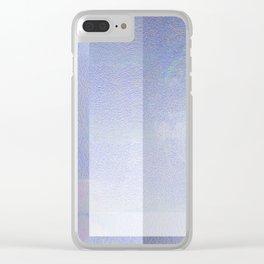 Glitch in the Sky - Digital Geometric Texture Clear iPhone Case