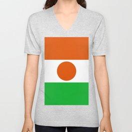 Niger Flag Unisex V-Neck