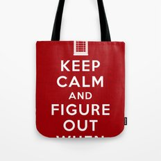 Keep Calm and Figure Out When Tote Bag