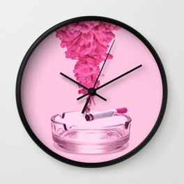 PINK SMOKE Wall Clock
