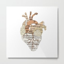 Sound Of My Heart (on white) Metal Print