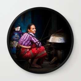 Cooking, Kathmandu, Nepal Wall Clock