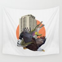 cage Wall Tapestries featuring Cage home by Lerson