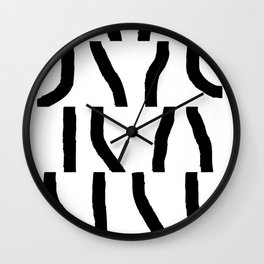 Fragments of Rhizome Paths no. 3 Wall Clock