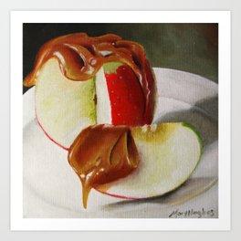Caramel Apple Art Print