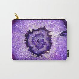 Purple Agate Geode Carry-All Pouch
