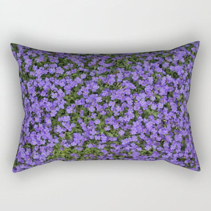 Tiny Purple Flowers Rectangular Pillow