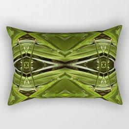 Dew Drop Jewels on Summer Green Grass Rectangular Pillow