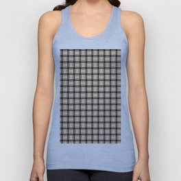 Small Bisque Brown Weave Unisex Tank Top