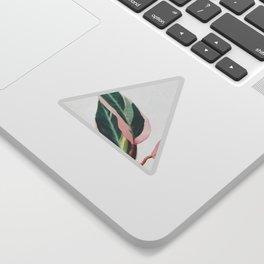 Pink Leaves II Sticker