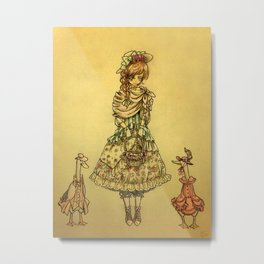 Goose Girl Metal Print