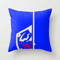 sword Throw Pillows featuring Sword & Shield by Danyul