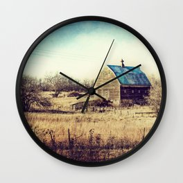 Interlude in Blue Wall Clock