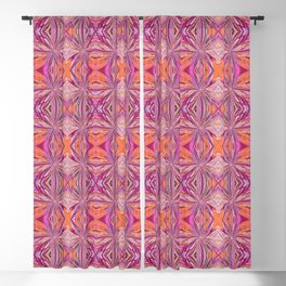 Hot Pink and Orange Pattern 800 Blackout Curtain