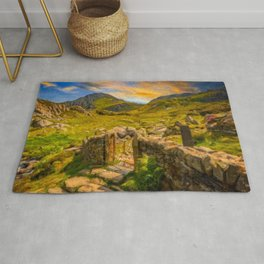 Gate to Snowdonia Wales Rug