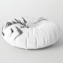 AERIAL VIEW PHOTOGRAPHY OF SNOW Floor Pillow