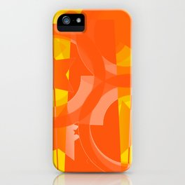 hoe is afraid of orange and yellow iPhone Case
