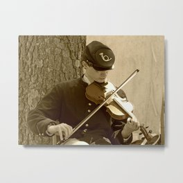 Civil War Fiddle Player Metal Print