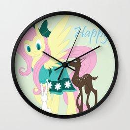 Easter Flutters Wall Clock