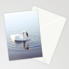 the beautiful swan Stationery Cards