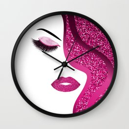 glittery woman Wall Clock