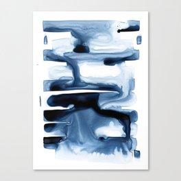 Indigo Flow no. 1 Canvas Print