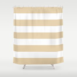 Durian White - solid color - white stripes pattern Shower Curtain