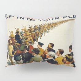 Vintage poster - Step into your place Pillow Sham