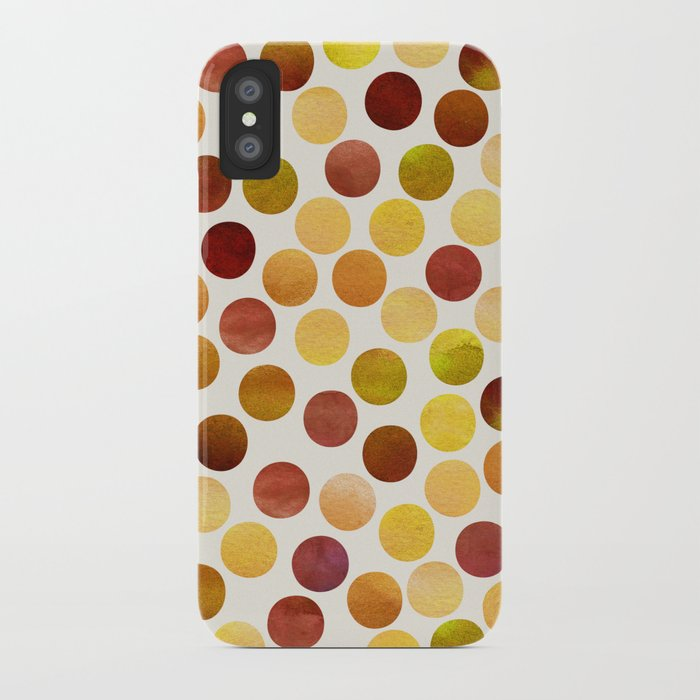 Watercolor Dots_Amber iPhone Case