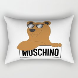 moschino cool bear Rectangular Pillow