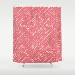 Coral Shibori Shower Curtain